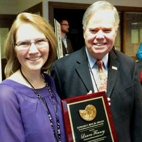 2014 Edward C. Roy, Jr. Award winner, Laura Finney and AGIF Interim Executive Director, Dr. P. Patrick Leahy